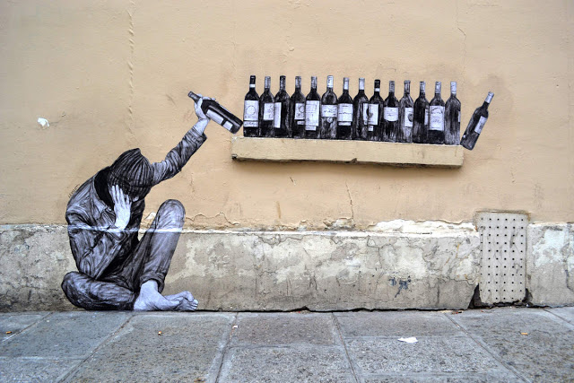 Levalet's One Too Many new piece in Paris, France - the vandallist (3)