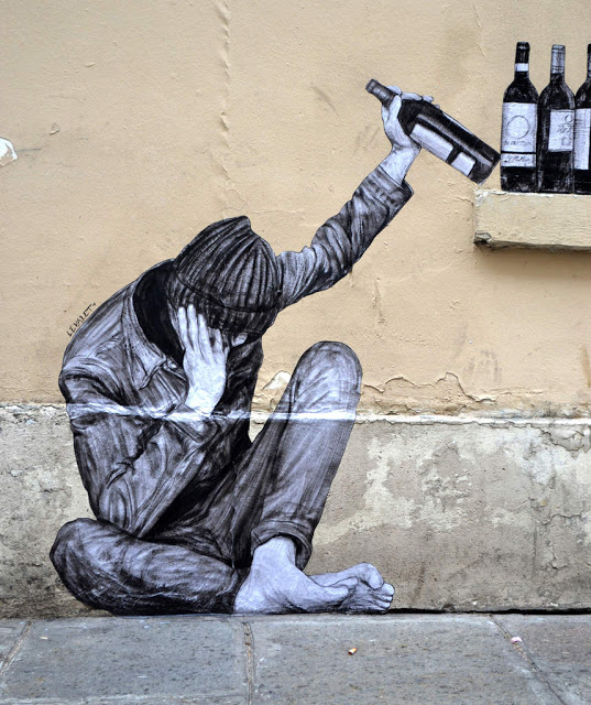 Levalet's One Too Many new piece in Paris, France - the vandallist (6)