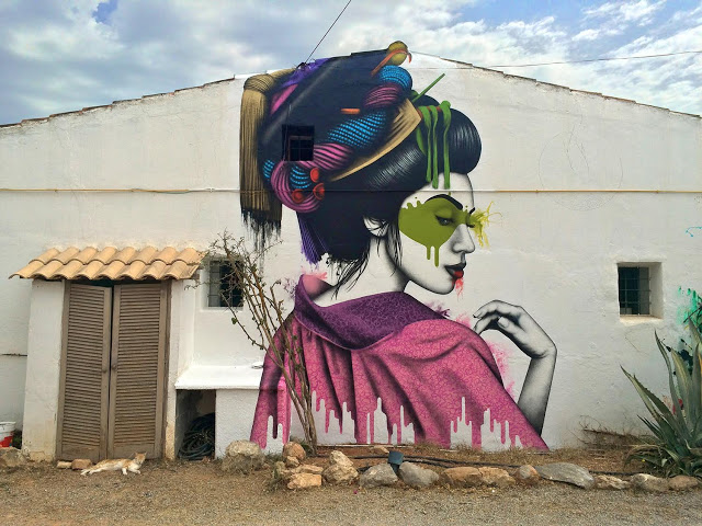 New mural by Fin DAC in Ibiza, Spain - Melnagai - the vandallist (2)