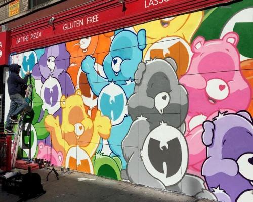 """Jerkface paints """"Wu-Tang Care Bears"""" in New York City"""