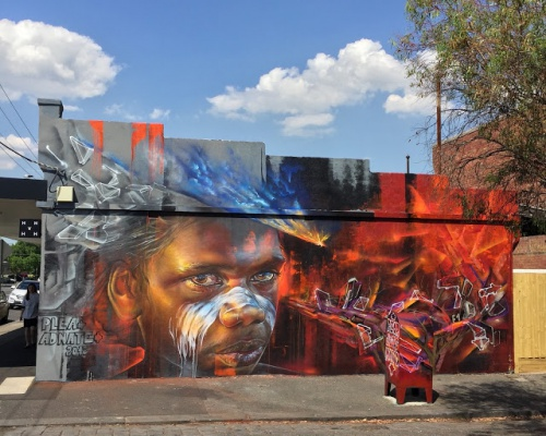 Adnate teamed up with Plea for a new mural in Melbourne, Australia