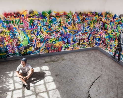 Martin Whatson unveils an indoor installation in Rome, Italy