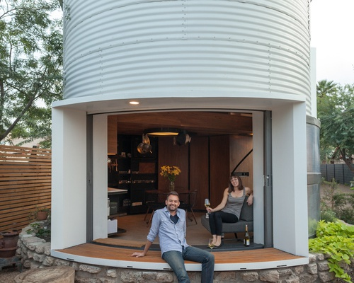 From a 1950s Grain Storage Facility to a Modern, Intimate Home