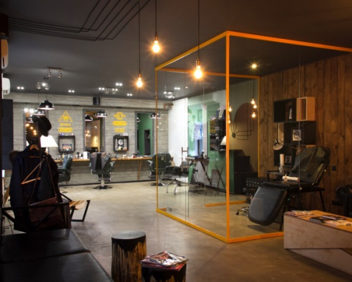 A modern revival of the barbershop in Kiev, Ukraine