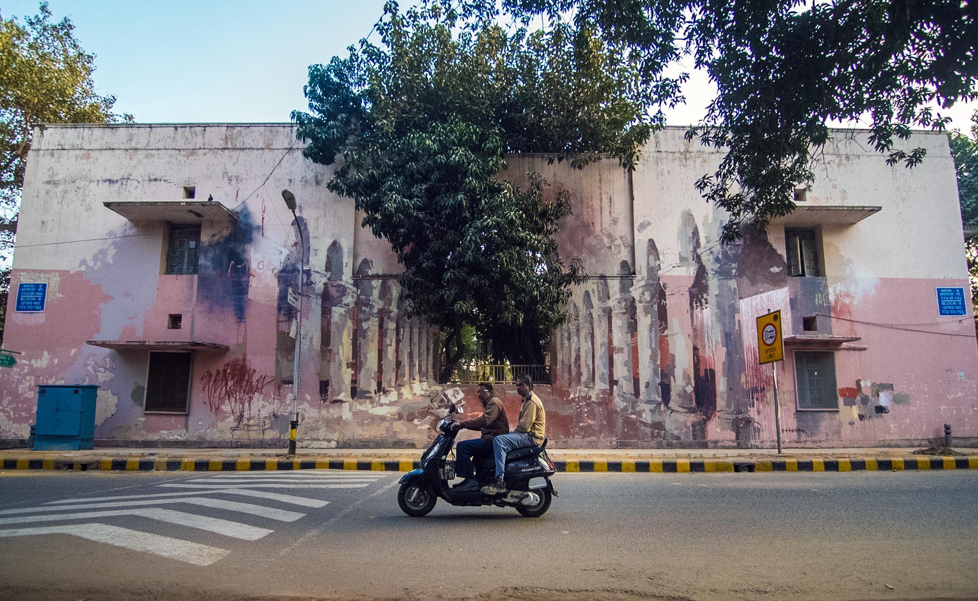 Borondo in Lodhi Colony, New Delhi - the vandallist (2)