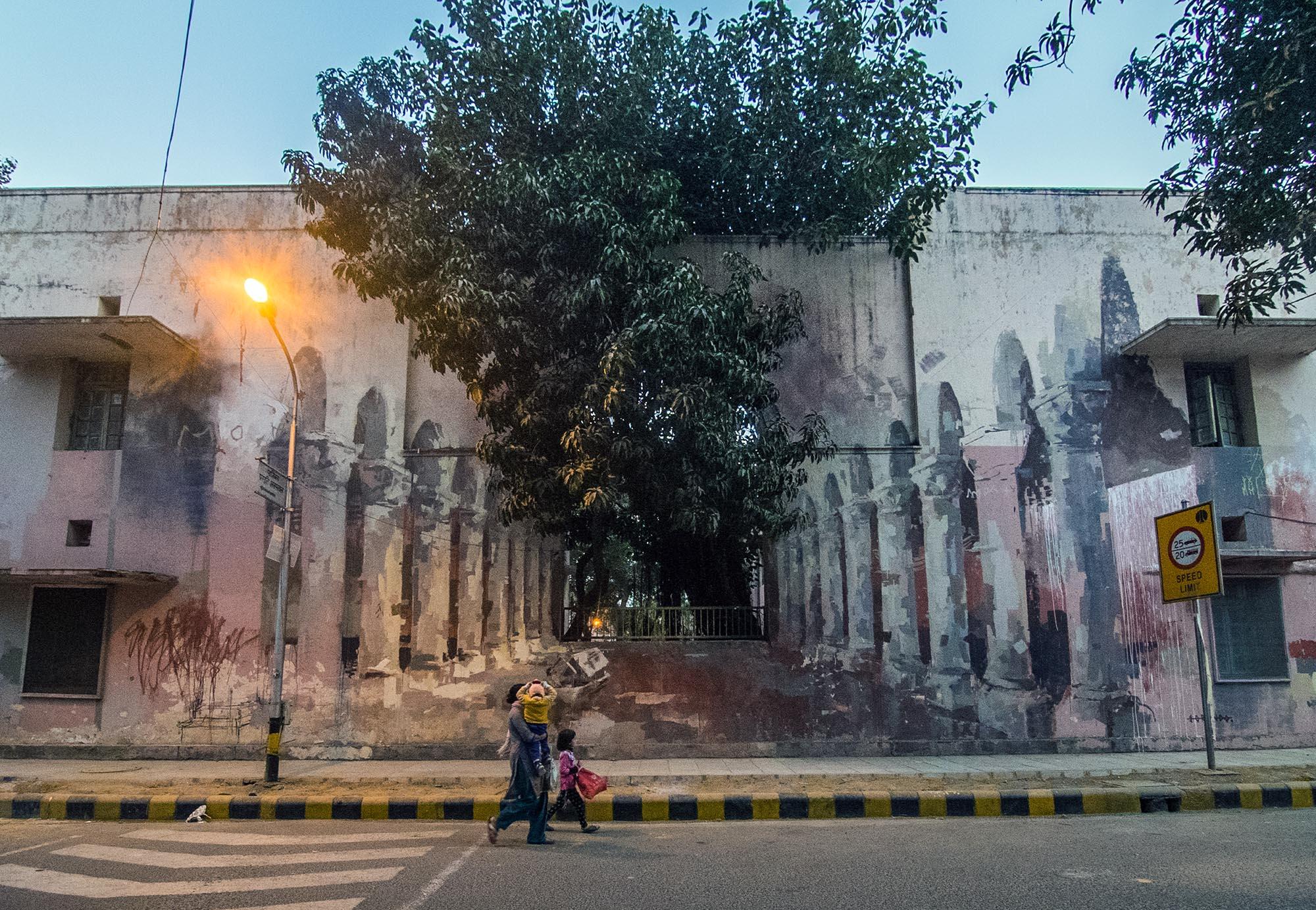Borondo in Lodhi Colony, New Delhi - the vandallist (3)