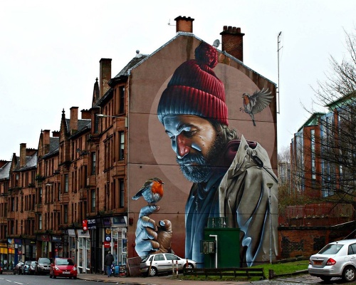 Mural by 'Smug' in Glasgow