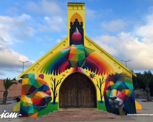 """11 Mirages to the Freedom"" by Okuda in Morocco"