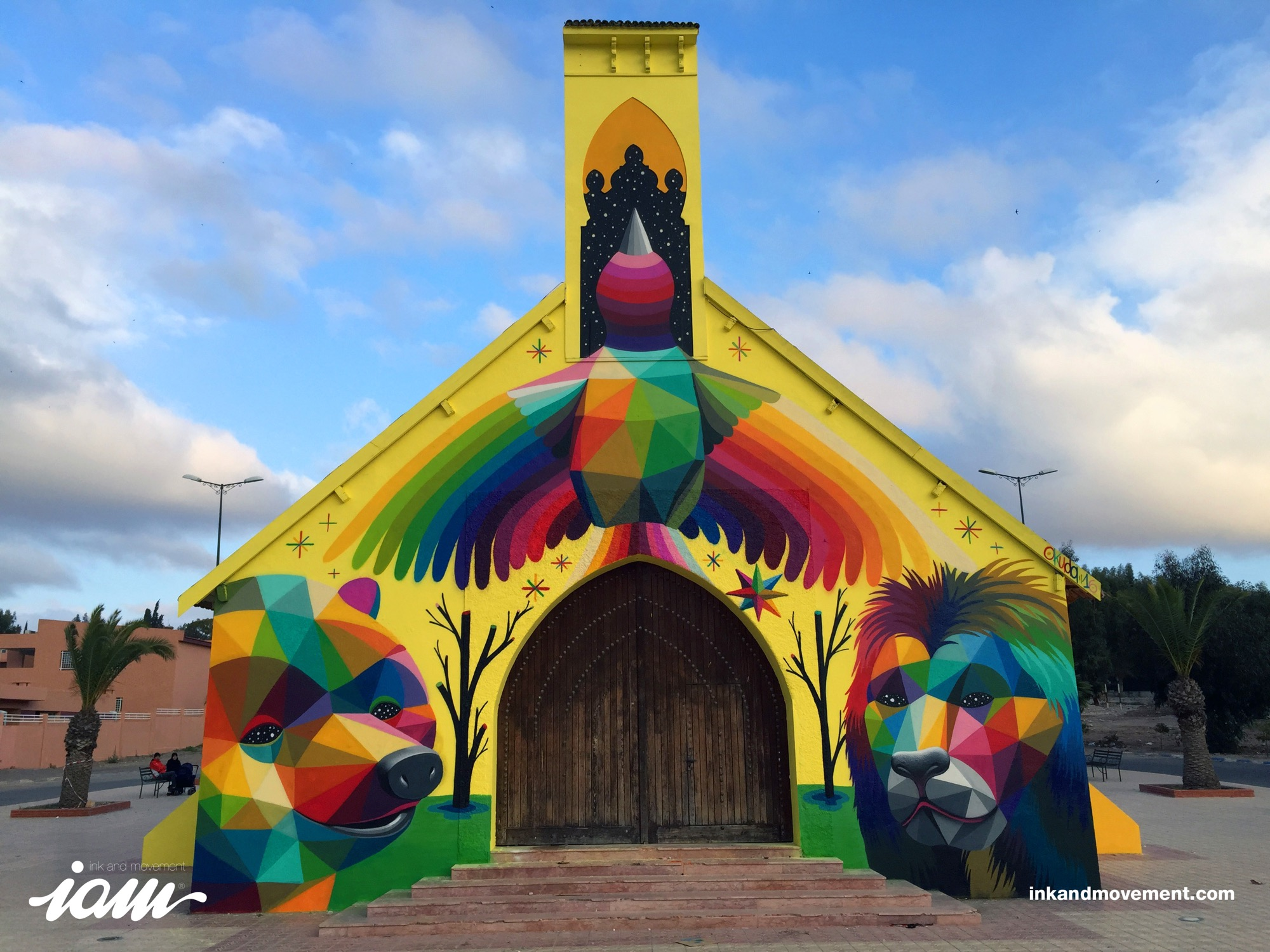 """11 Mirages to the Freedom"" by Okuda in Youssoufia, Morocco - the vandallist (1)"