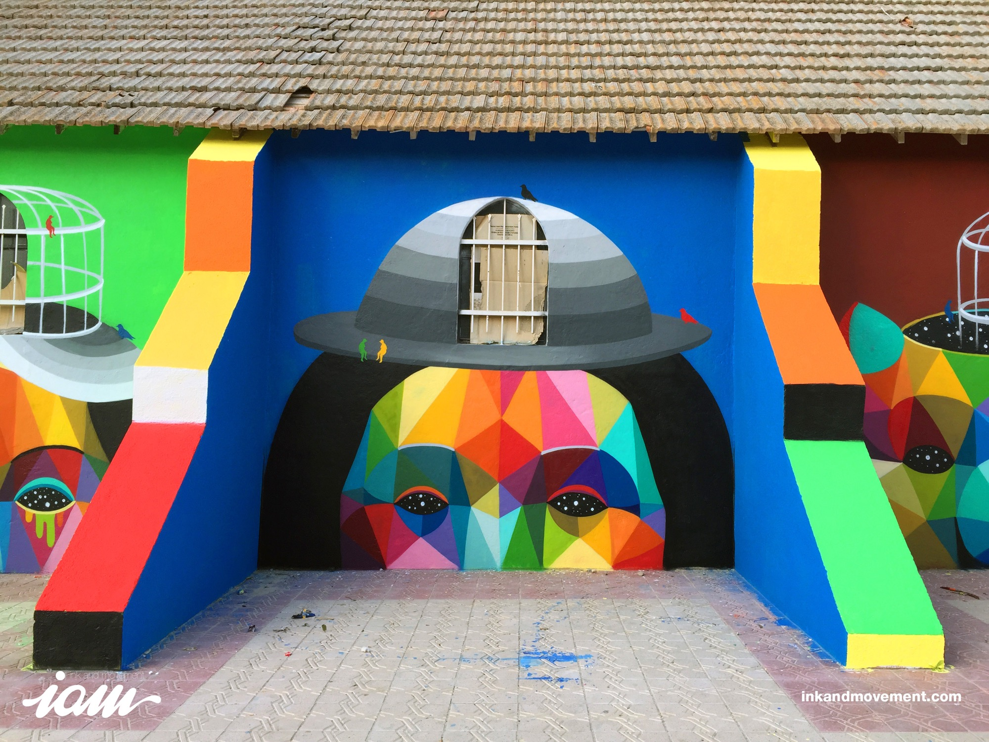 """11 Mirages to the Freedom"" by Okuda in Youssoufia, Morocco - the vandallist (10)"