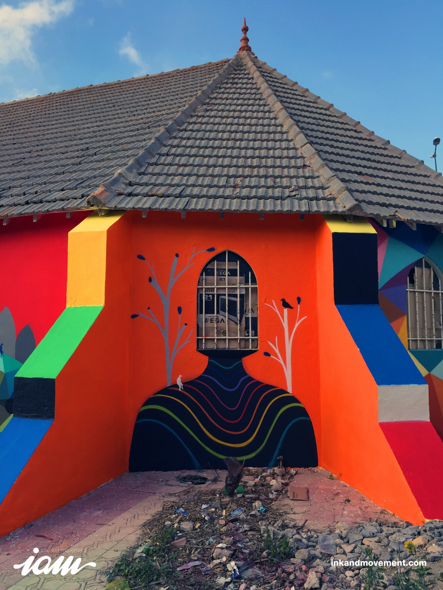 """11 Mirages to the Freedom"" by Okuda in Youssoufia, Morocco - the vandallist (11)"