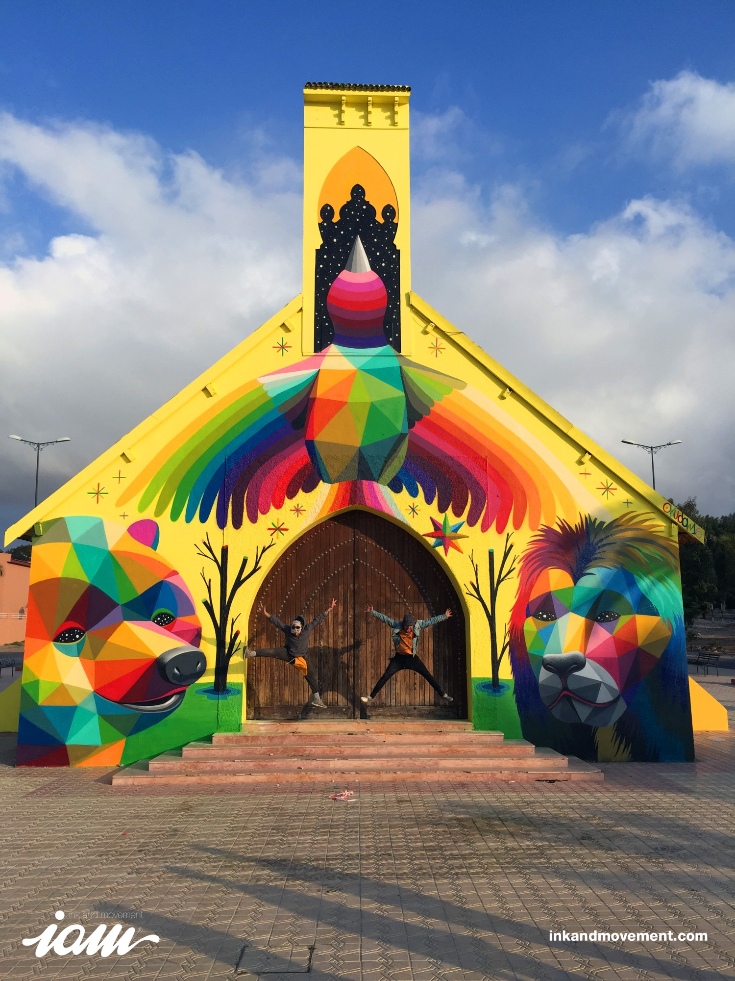 """11 Mirages to the Freedom"" by Okuda in Youssoufia, Morocco - the vandallist (12)"