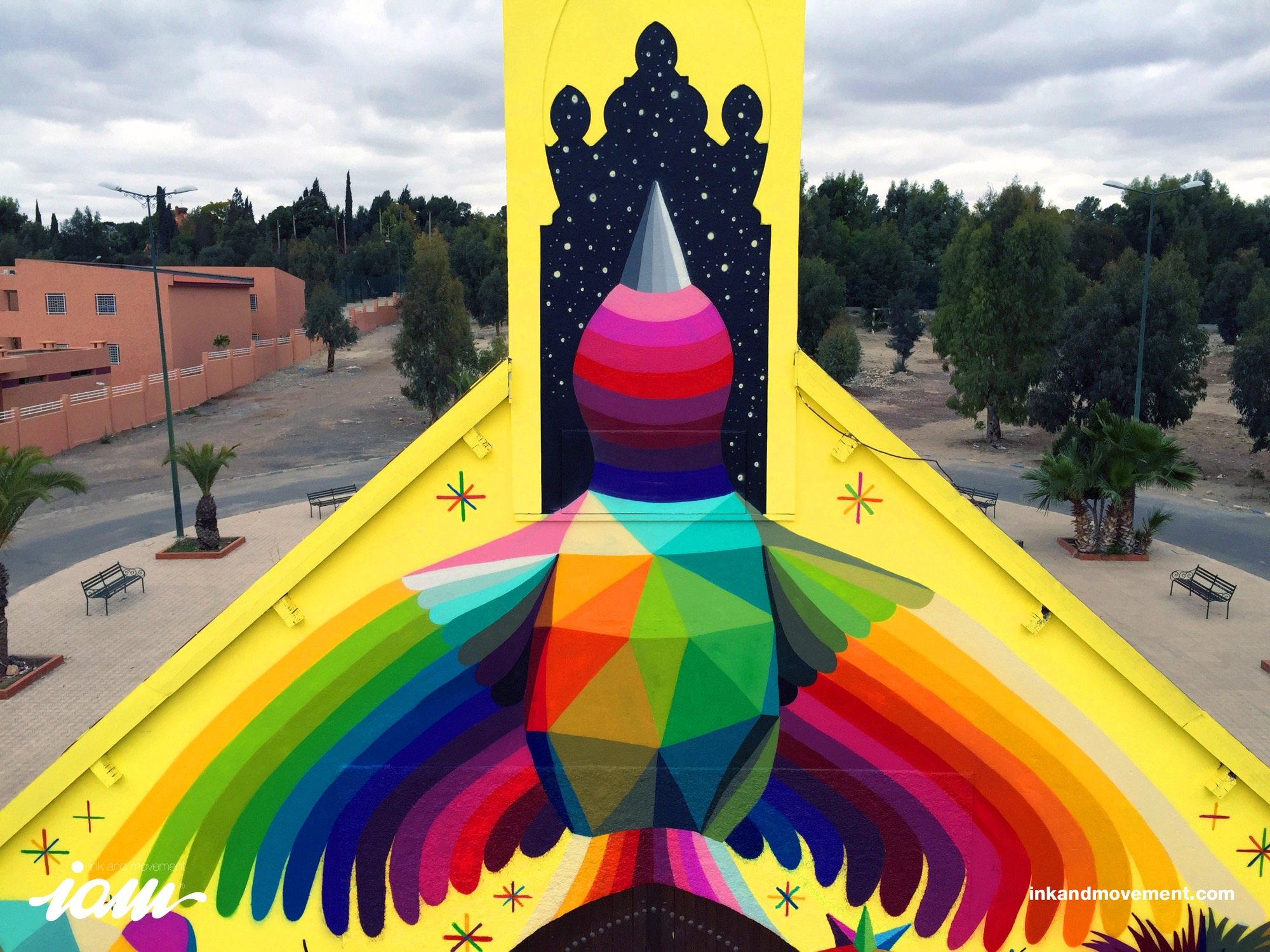 """11 Mirages to the Freedom"" by Okuda in Youssoufia, Morocco - the vandallist (2)"