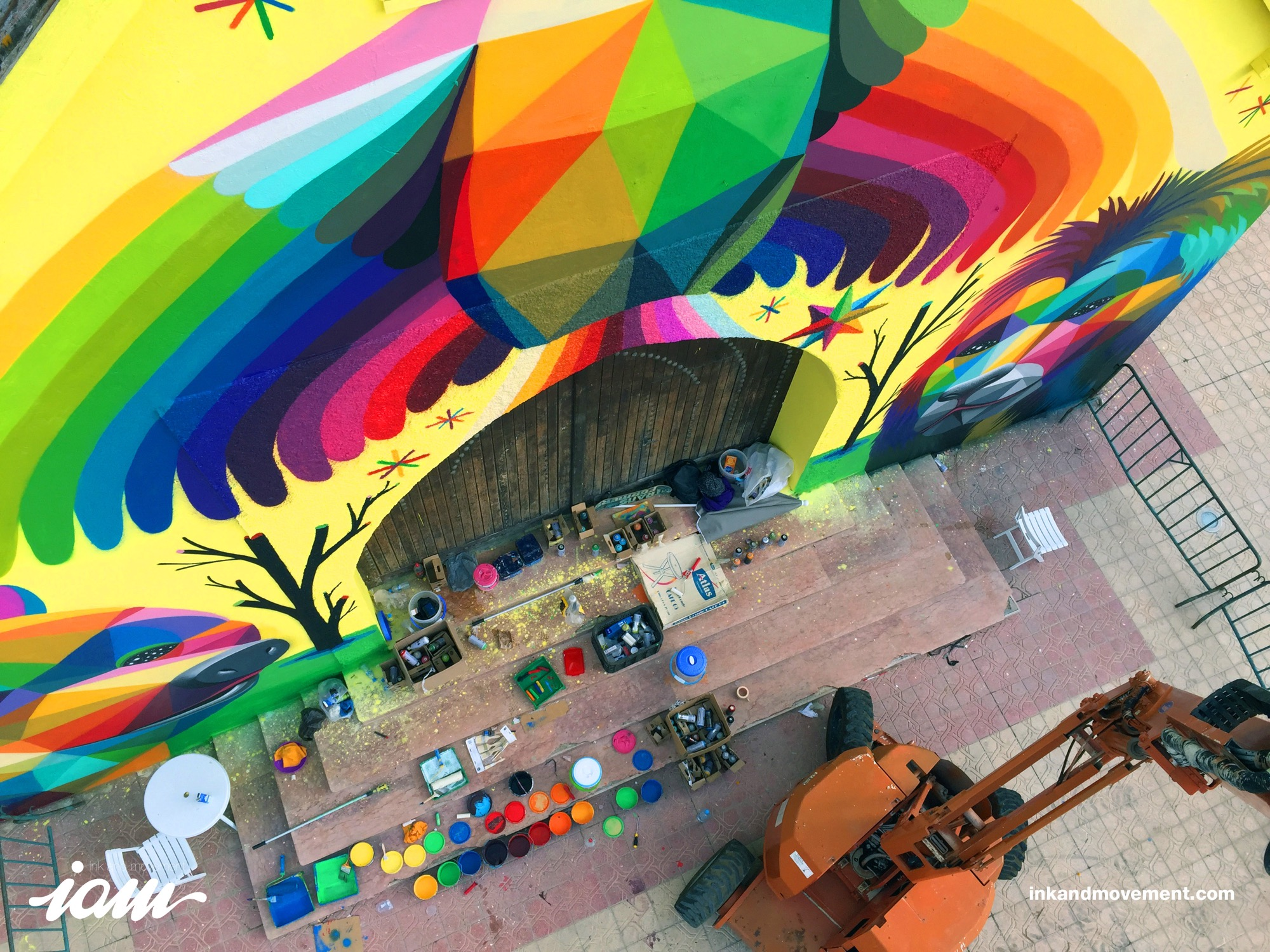"""11 Mirages to the Freedom"" by Okuda in Youssoufia, Morocco - the vandallist (3)"