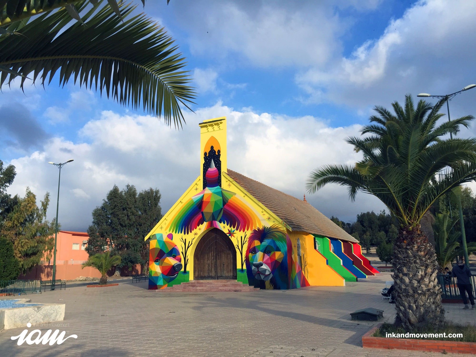 """11 Mirages to the Freedom"" by Okuda in Youssoufia, Morocco - the vandallist (5)"