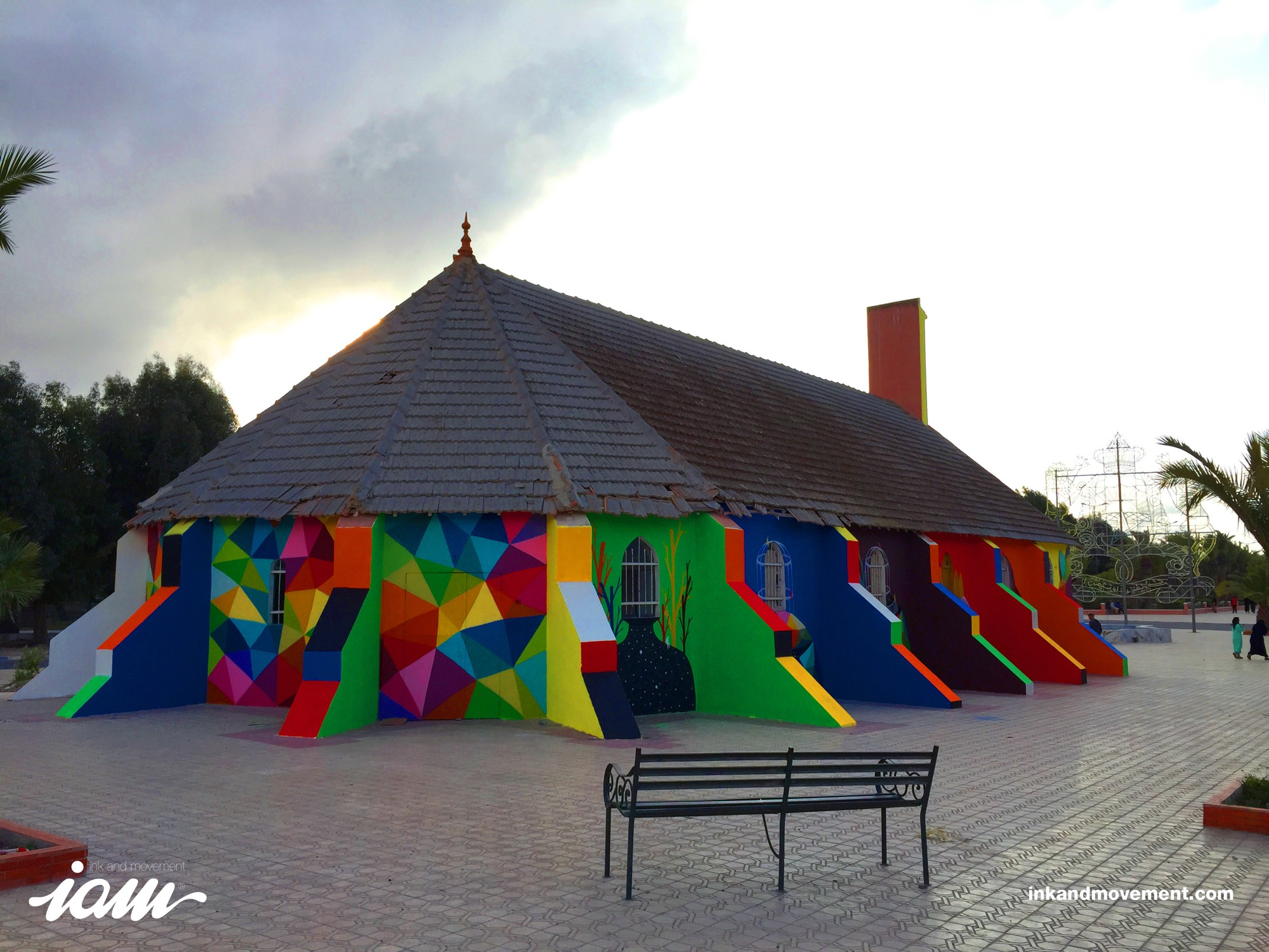 """11 Mirages to the Freedom"" by Okuda in Youssoufia, Morocco - the vandallist (6)"