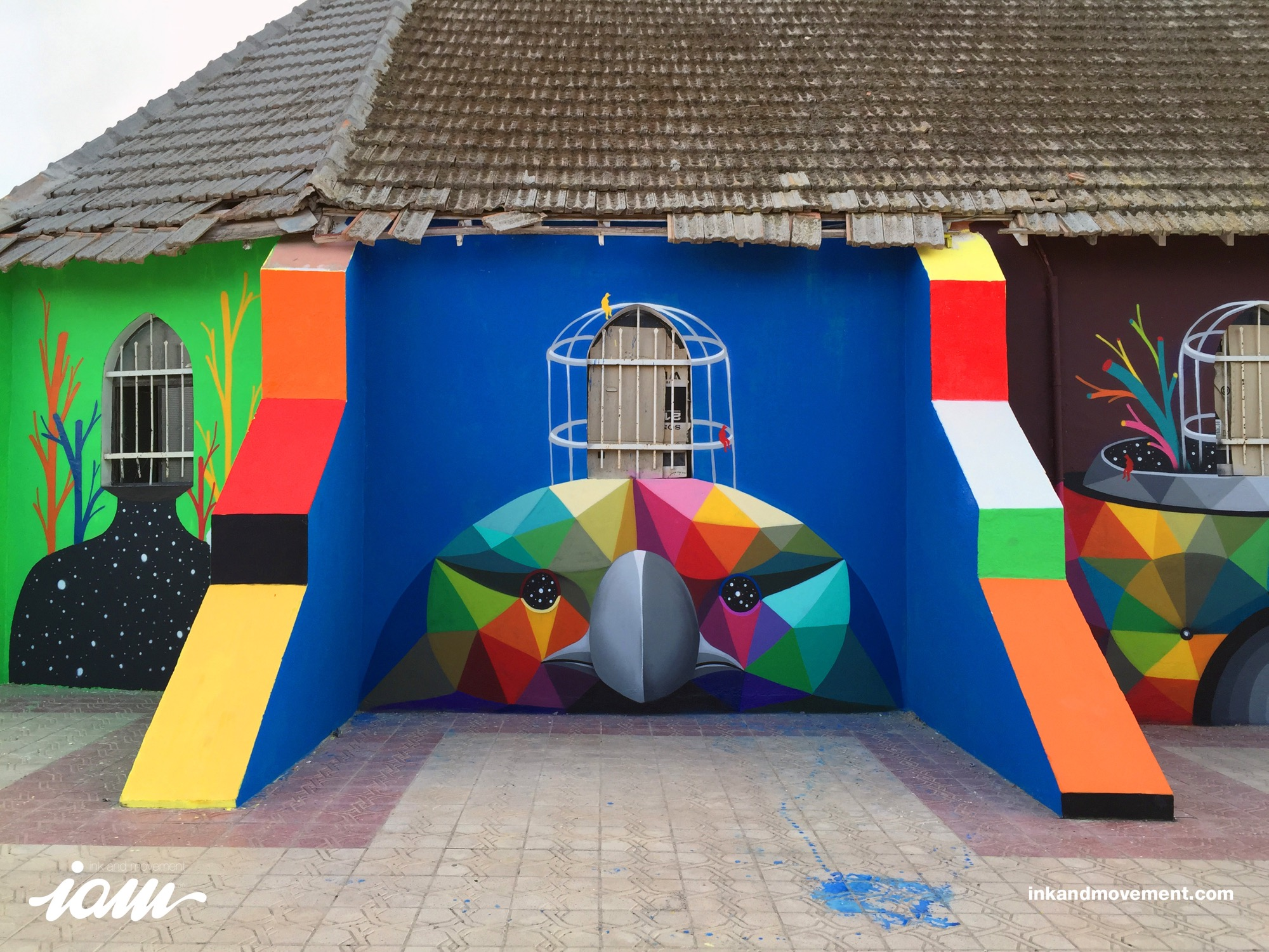 """11 Mirages to the Freedom"" by Okuda in Youssoufia, Morocco - the vandallist (7)"