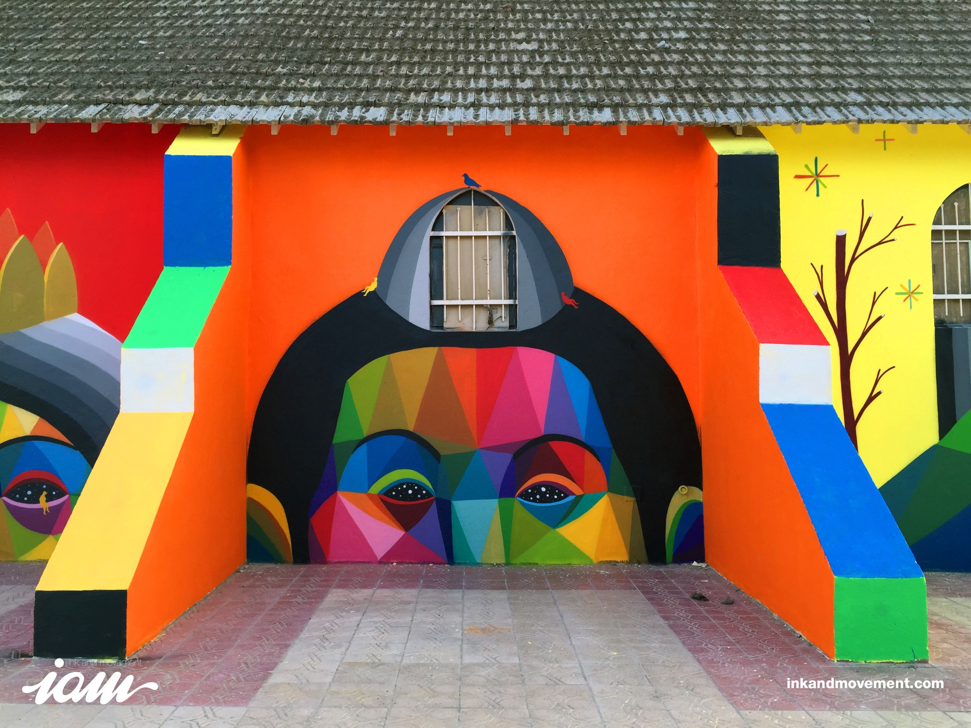 """11 Mirages to the Freedom"" by Okuda in Youssoufia, Morocco - the vandallist (8)"