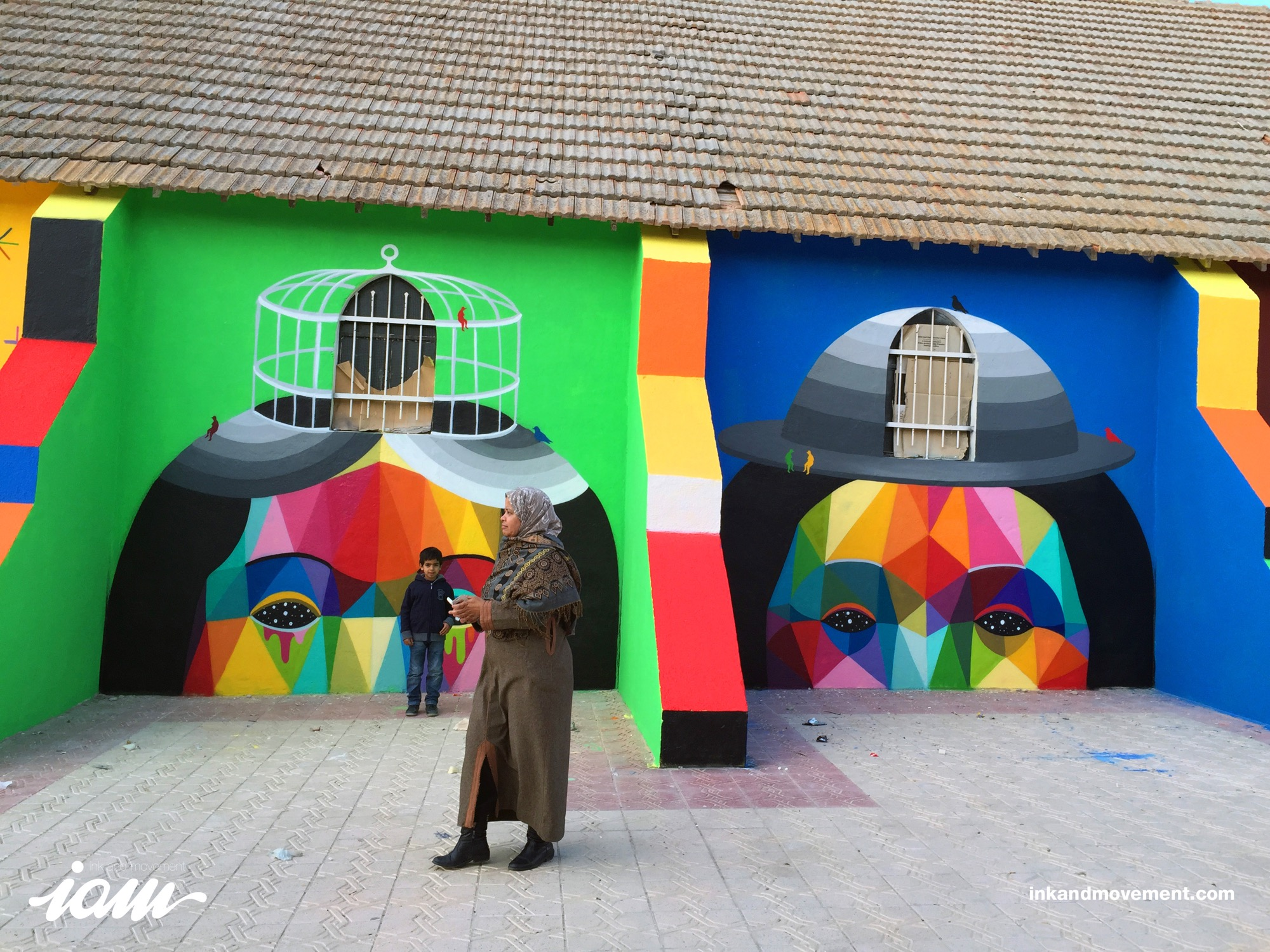 """11 Mirages to the Freedom"" by Okuda in Youssoufia, Morocco - the vandallist (9)"