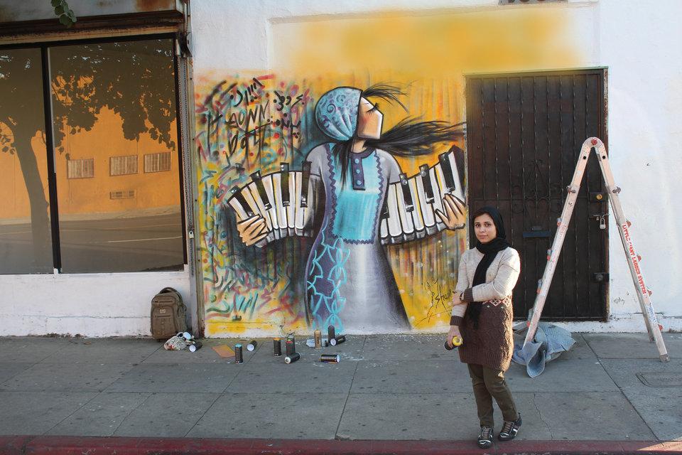 Afghanistan's First Female Street Artist - THE VANDALLIST (1)