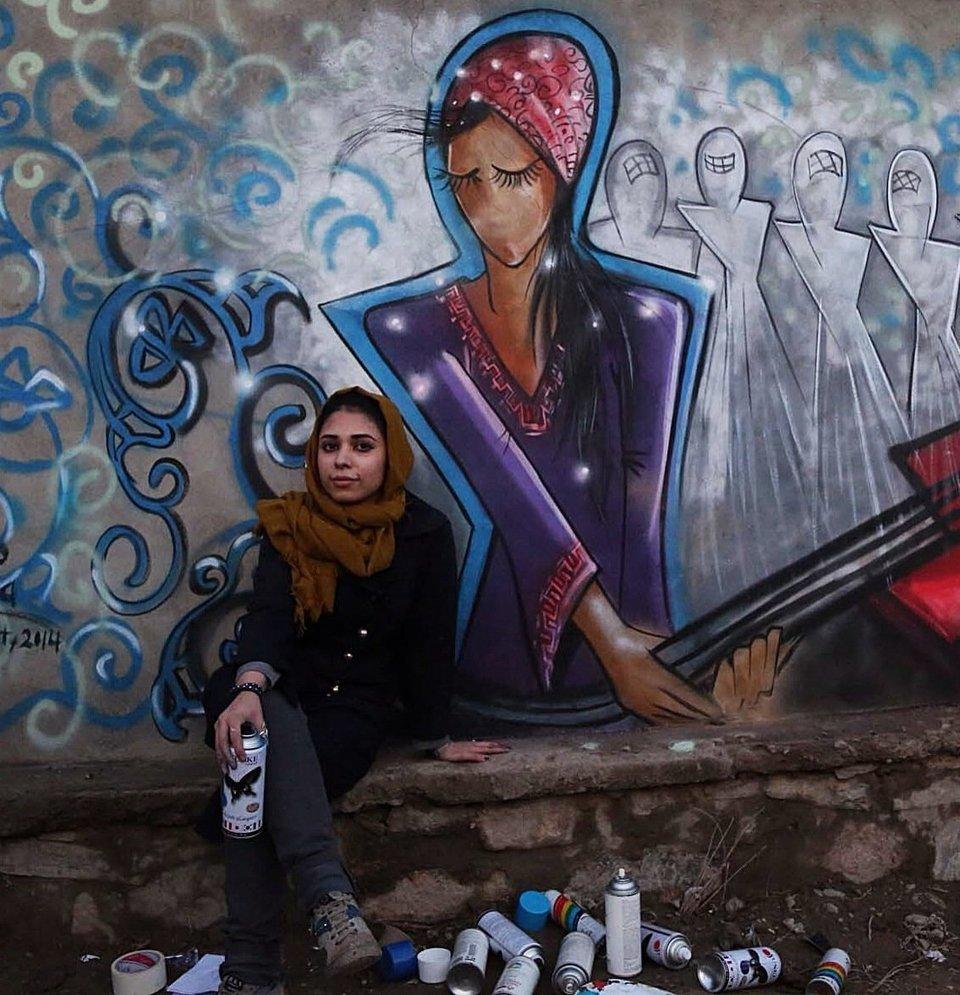 Afghanistan's First Female Street Artist - THE VANDALLIST (10)