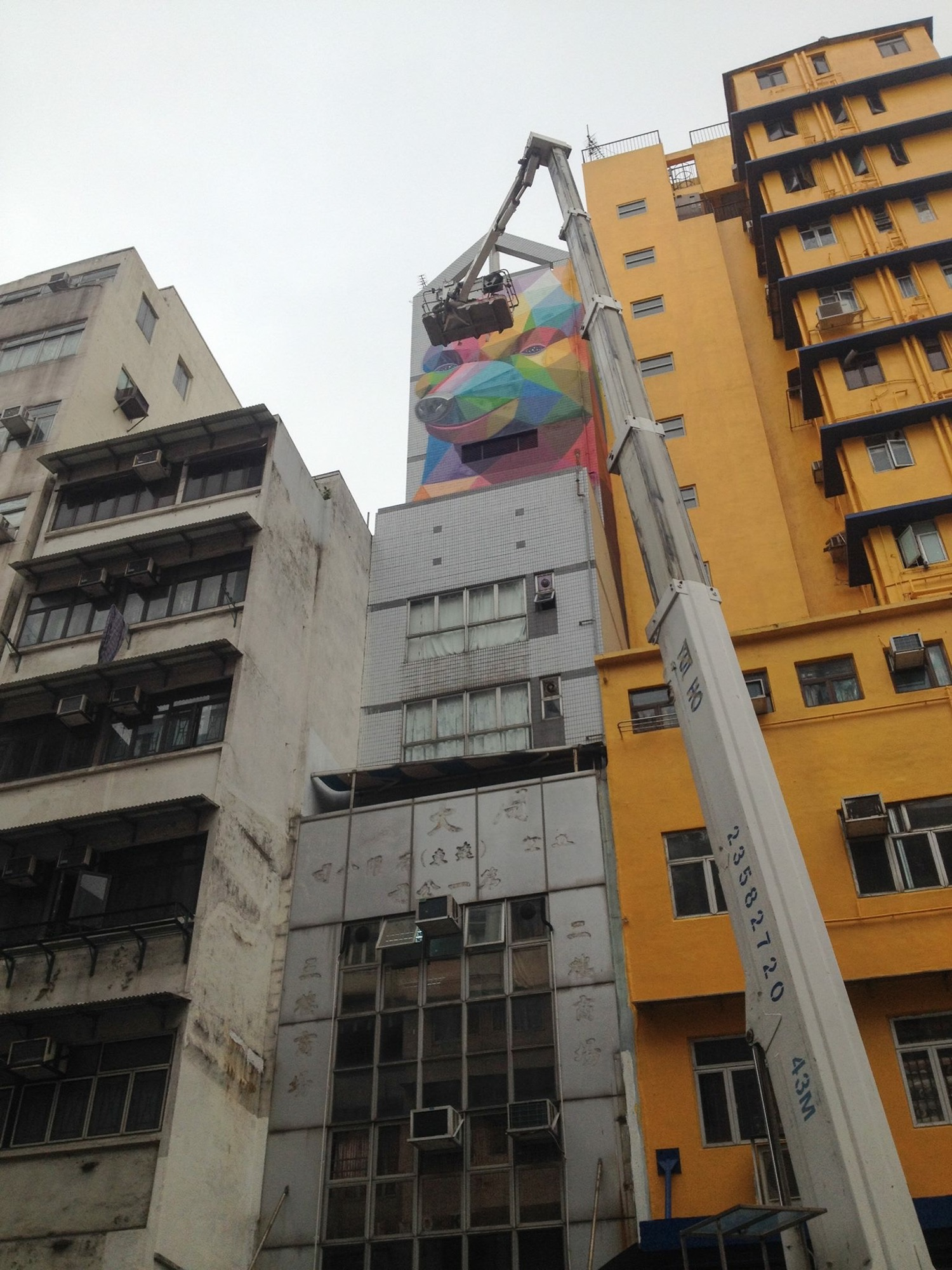 New Mural by Okuda in Hong-Kong - the vandallist (11)