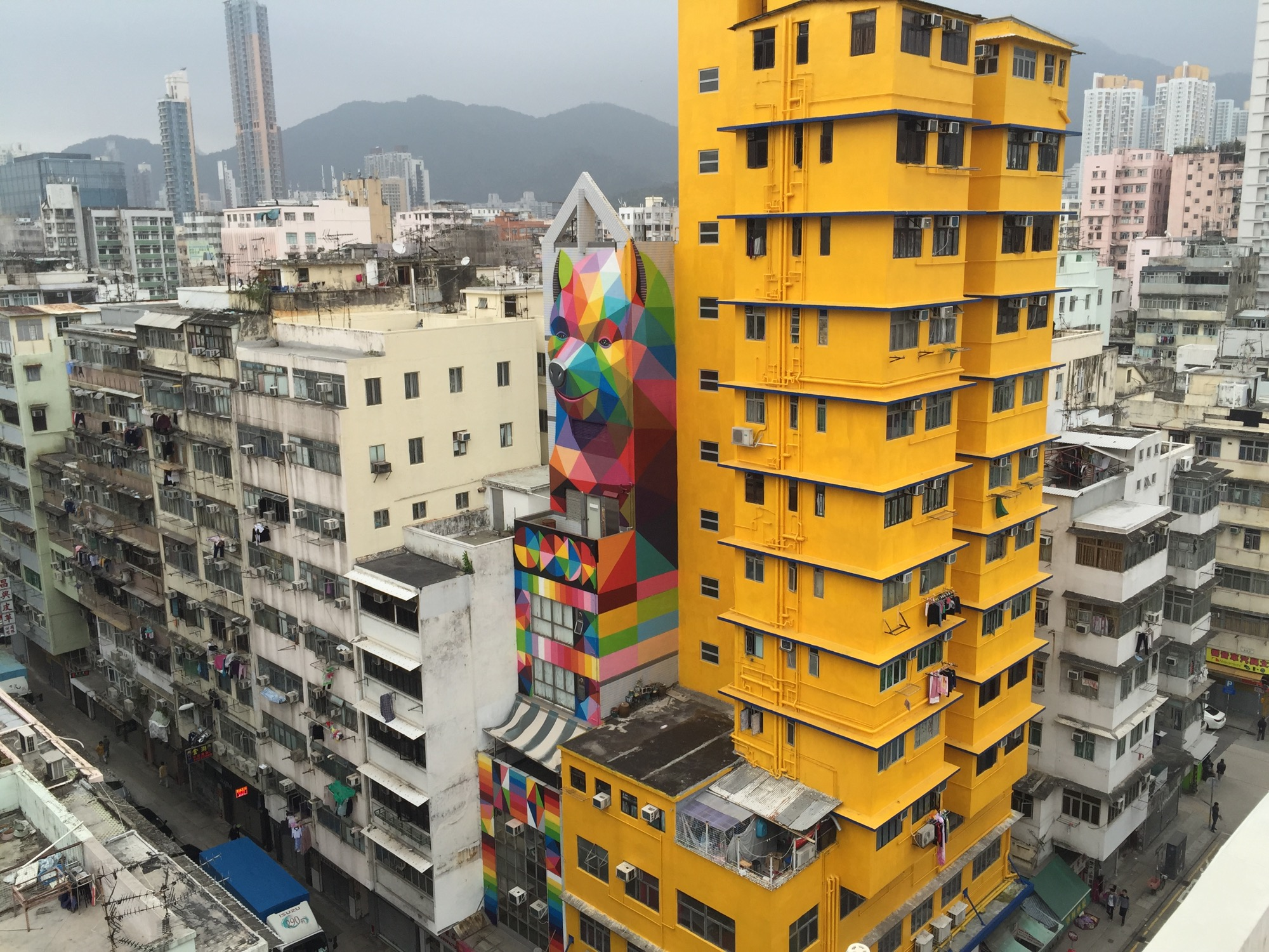 New Mural by Okuda in Hong-Kong - the vandallist (4)