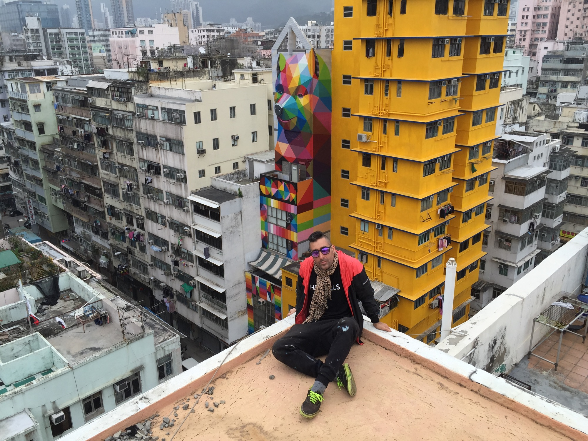 New Mural by Okuda in Hong-Kong - the vandallist (7)