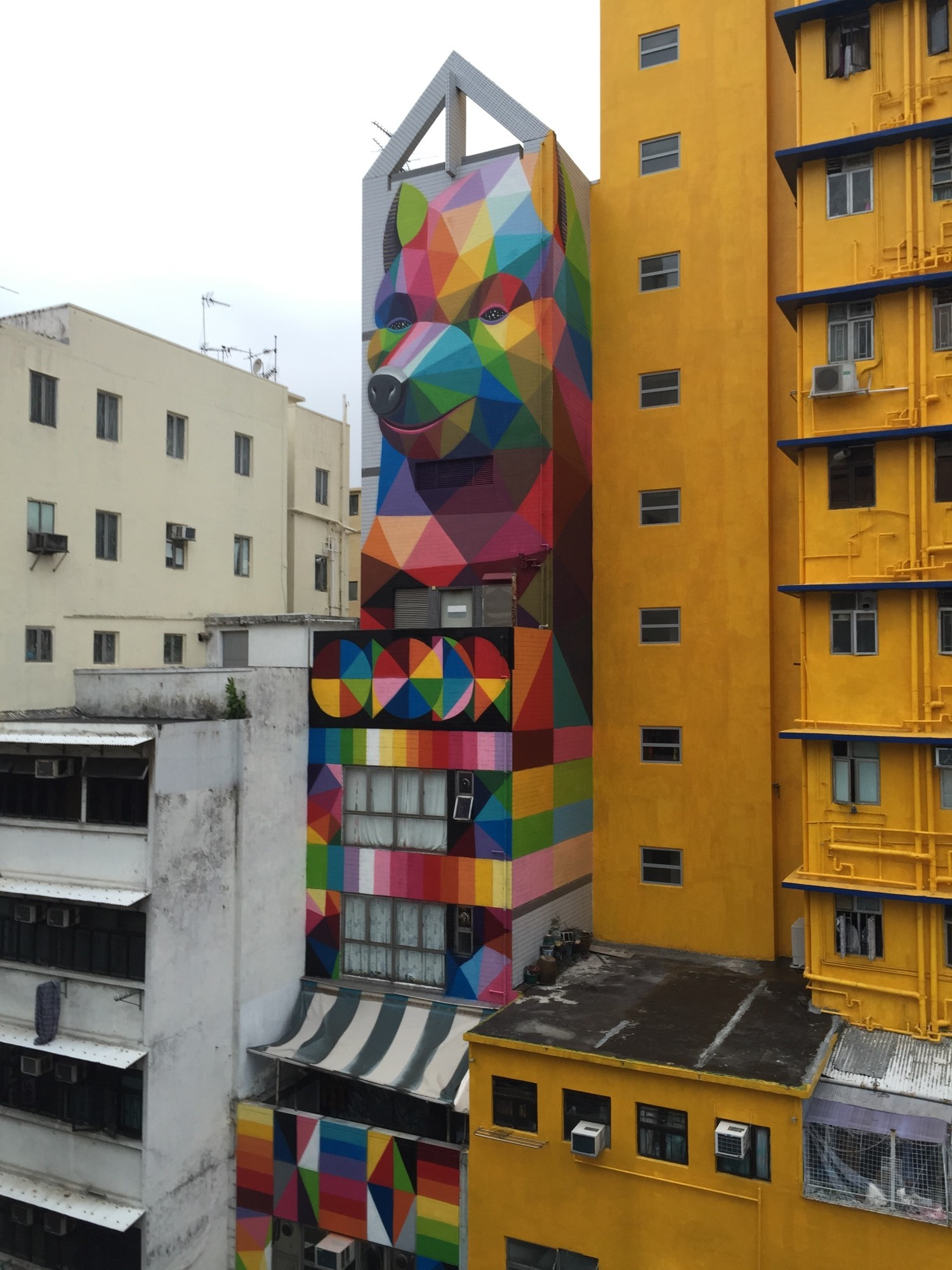 New Mural by Okuda in Hong-Kong - the vandallist (8)