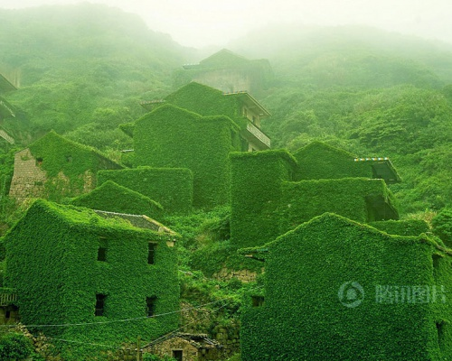 The Green Wonderland – Abandoned Fishing Village in China devoured by Nature