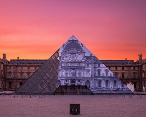 Le Louvre Metamorphosis – by artist JR
