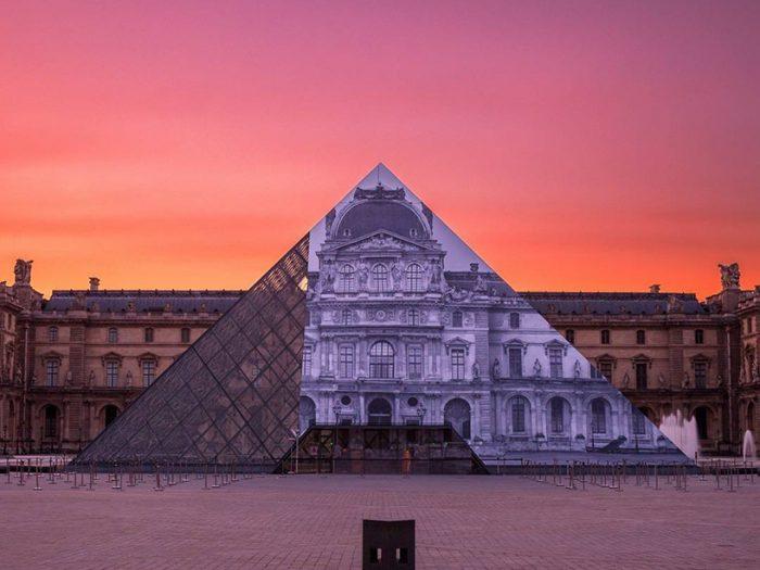 Le Louvre Metamorphosis - by artist JR - the vandallist (2)