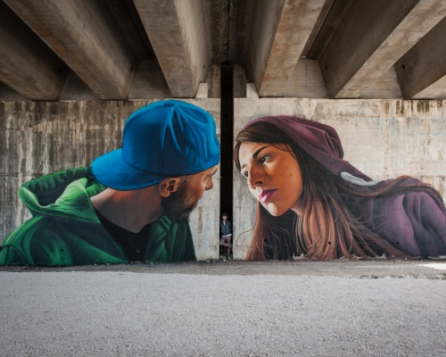 Meet street artist LONAC and his new mural in CASSINO, ITALY