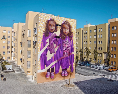 TELMO MIEL Duo creates TWO OF ONE KIND Mural