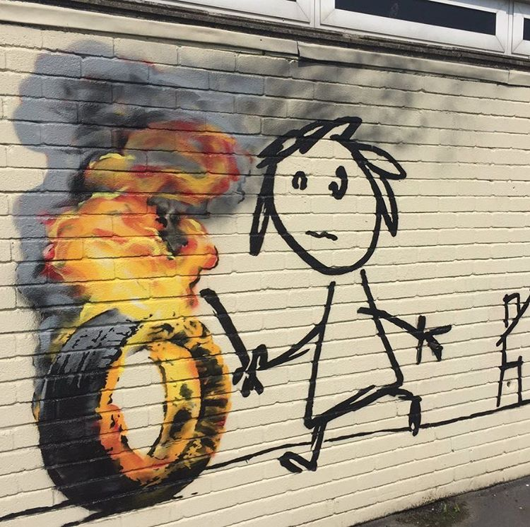BANKSY returns to Bridge Farm primary School in BRISTOL - the vandallist (2)