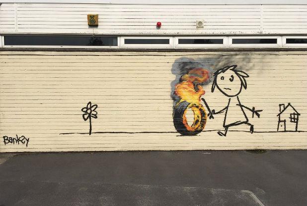 BANKSY returns to Bridge Farm primary School in BRISTOL - the vandallist (3)