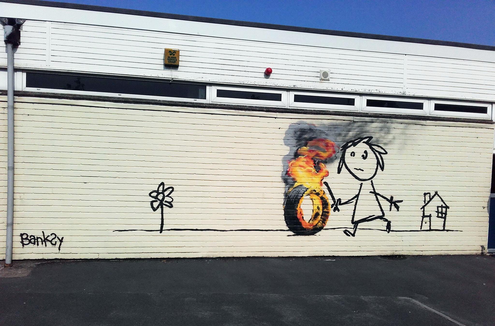 BANKSY returns to Bridge Farm primary School in BRISTOL - the vandallist (4)