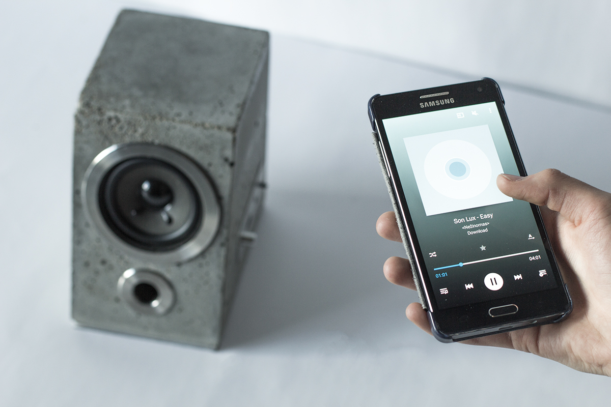 Concrete Bluetooth Sound System - the vandallist (2)
