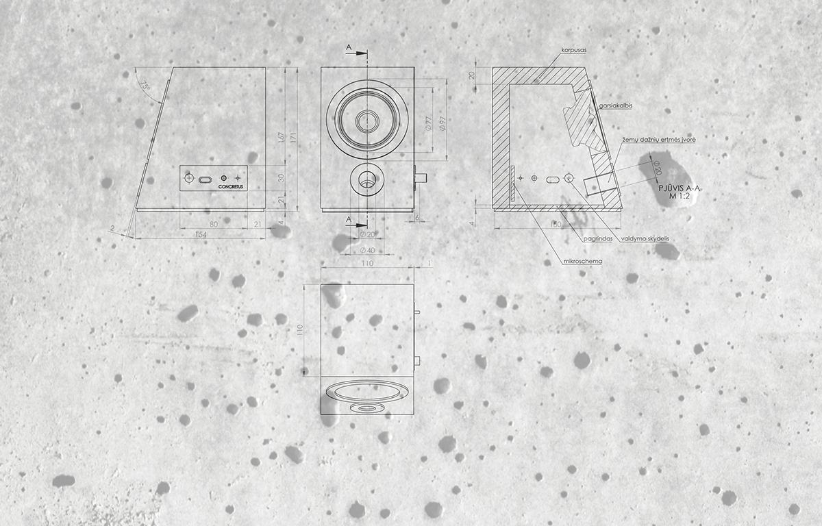 Concrete Bluetooth Sound System - the vandallist (4)