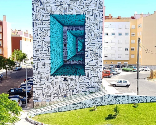 Optical Illusion Murals by ASTRO