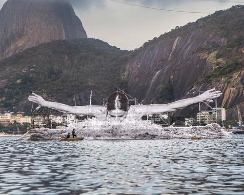 JR's giant athletes in Rio De Janeiro
