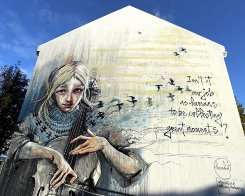 Wall poetry by HERAKUT in Iceland @Urban Nation