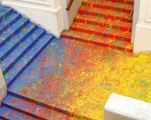 Splatter Paint for the Poland National Gallery's Great Hall Staircase