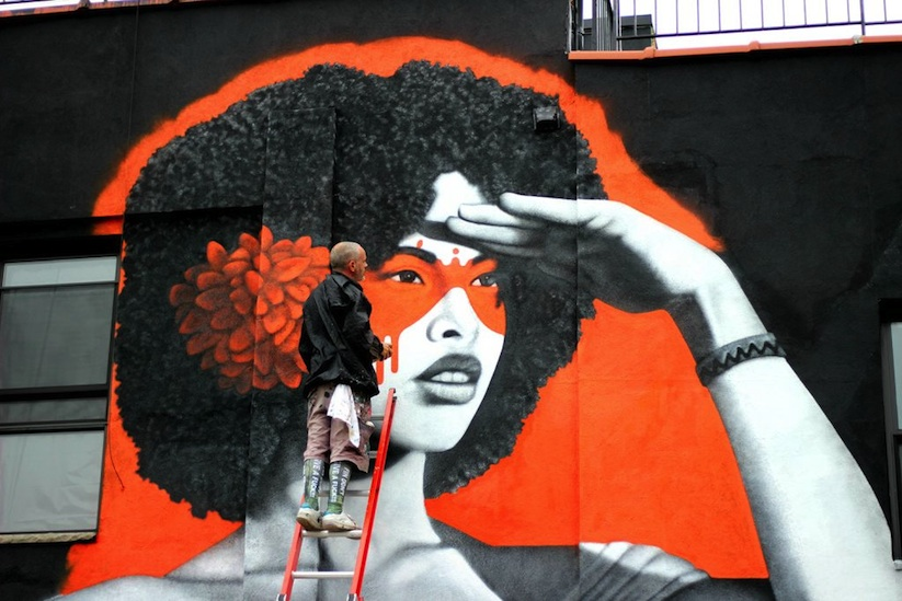 The Watcher - new mural by Fin DAC in NYC