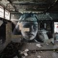 Expressive Murals Of Young Women On Crumbling Walls - by RONE