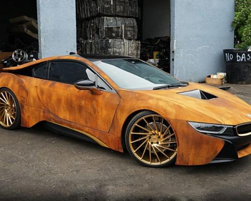 Customized rusty BMW i8