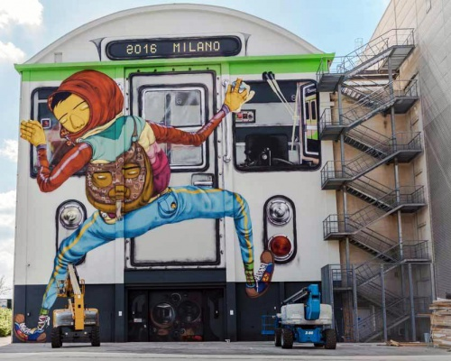 Os Gemeos 'Efêmero' Mural in Milan