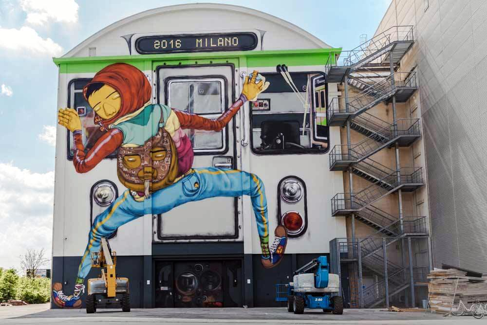 Os Gemeos'Efêmero' Mural in Milan