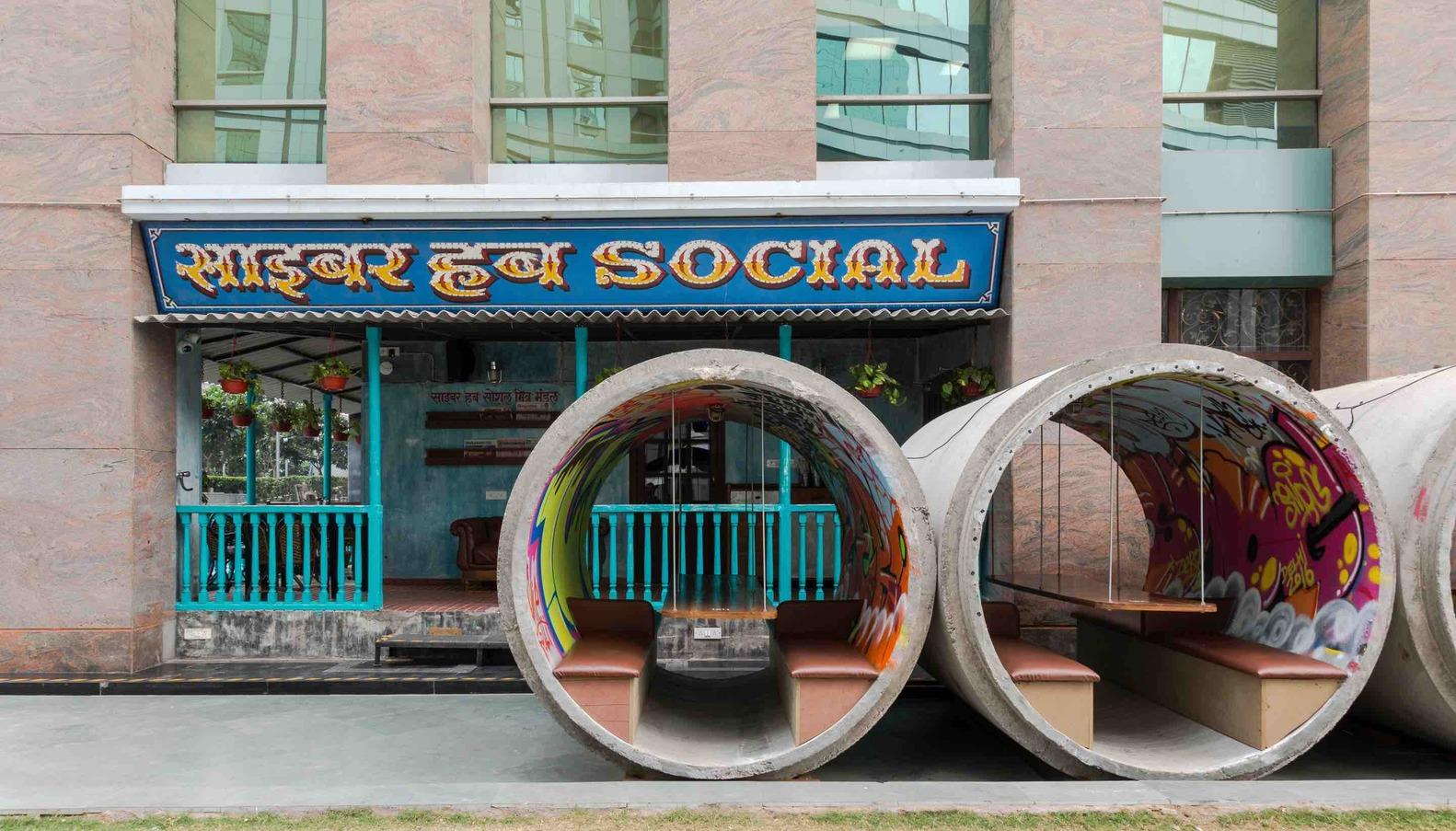 Cyber Hub Social by Chromed Design Studio