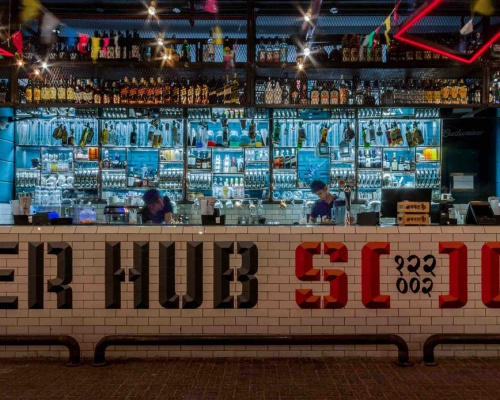 Cyber Hub Social by Chromed Design Studio
